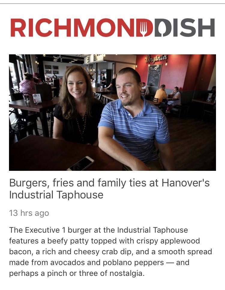 bestfest, industrial taphouse, richmond times dispatch, best new restaurant, craft beer, best burgers, richmond va, cots, ashland va, virginia, richmond dish
