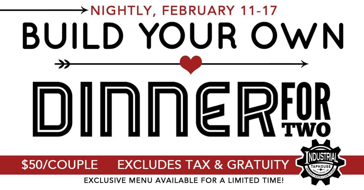 valentines day, Industrial Taphouse, prix fixe, love, cotu, rva eats, best restaurant, best bar, best burger, craft beer, Richmond Virginia restaurant, ashland restaurant