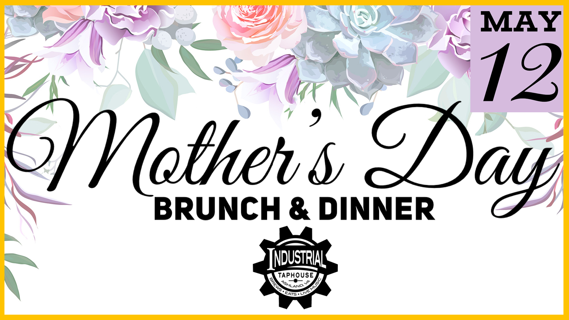 mothers day, brunch, dinner, lunch specials, dinner specials, mimosas, momosas, live music, industrial taphouse, Thursday night, best bar, best burger, craft beer, best new restaurant, ashland, Virginia, cotu, rva